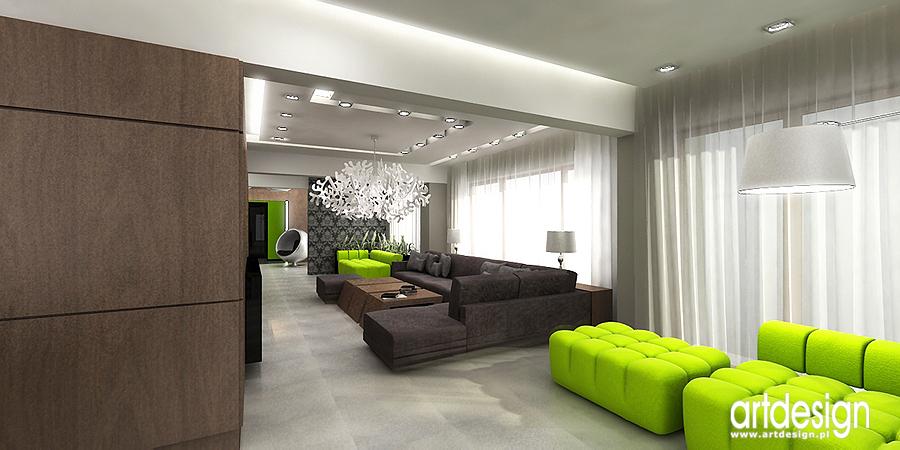 Projekty aranżacje wnętrz Projektowanie architektura   # Salon Kuchni Radom